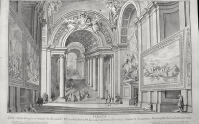 Panini, Francesco: View of the stairs in the Vatican Palace. Year 1765