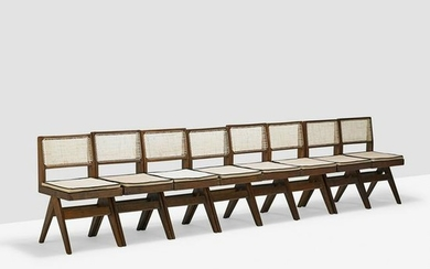 PIERRE JEANNERET Eight V-Leg side chairs