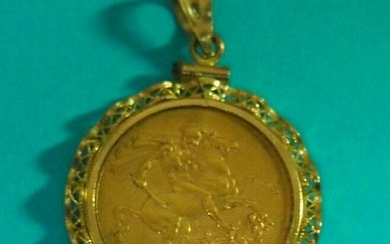 1892 Queen Victoria Great Britain Gold Sovereign Coin