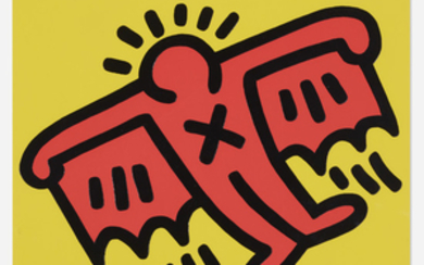 Keith Haring, Plate 3 (from Icons portfolio)