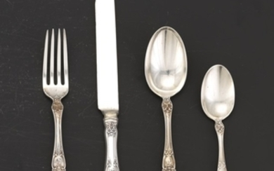 """Gorham Sterling Silver Luncheon Service for Six, """"Buttercup"""" Pattern"""