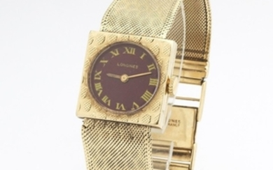 Longings Gentleman's 14k Gold Watch With Band, ca.1970's