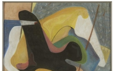 DOROTHY RENO GROVER (american, 1908-1975) ABSTRACT SHAPES Signed and...