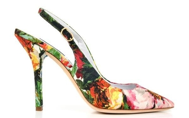 Dolce&Gabbana Shoe Exotic Flower Print on Brocade