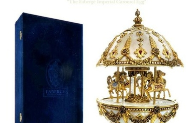 The House of Faberge Imperial Musical Carousel Egg