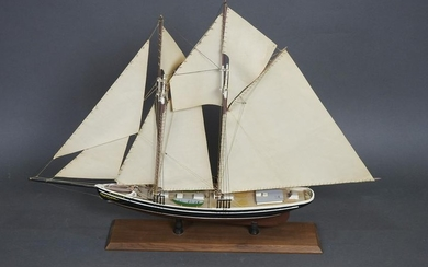 SHIP ON WOODEN STAND