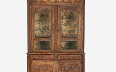 FRENCH PROVINCIAL BOOKCASE CABINET
