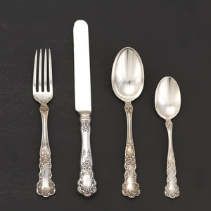 "Gorham Sterling Silver Luncheon Service for Six, ""Buttercup"" Pattern"
