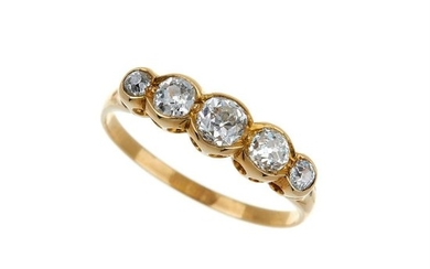 An early 20th century five stone diamond ring