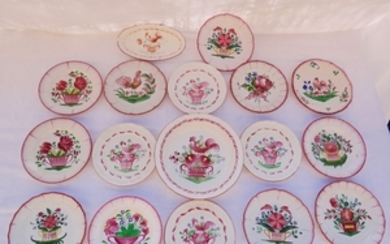 MISC. LOT OF 17 EASTERN FRANCE FAIENCE PLATES