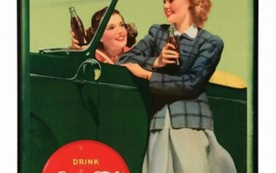 1942 LARGE COCA-COLA ADVERTISING POSTER.