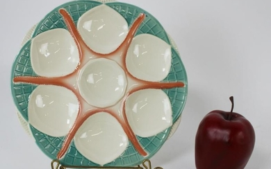 French Sarreguemines starfish oyster plate