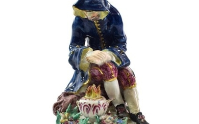A Bow Porcelain Figure of Winter, circa 1765, as a...