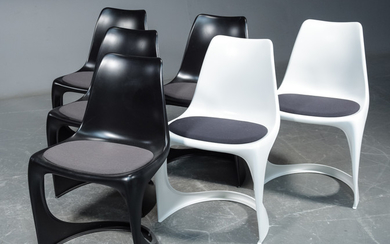 Steen Østergaard, six chairs, 'Modo Chair' with upholstered seats (6)