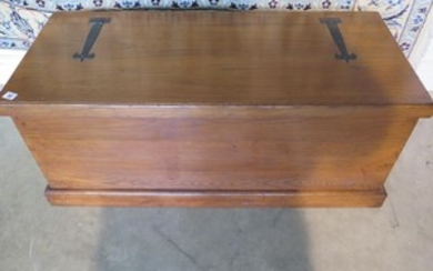 A 19th century style oak blanket box made by a local craftsm...