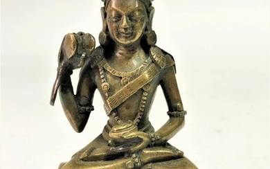 A Bronze Figure of The Mahasiddha Damarupa (the Drummer)
