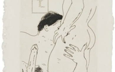 DAVID HOCKNEY | AN EROTIC ETCHING (SCOTTISH ARTS COUNCIL 172)