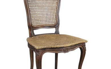 Early 19th Century French Beech Bergère Cane Salon