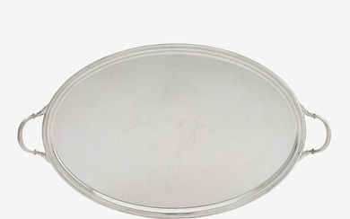 GEORGE V SILVER SERVING TRAY