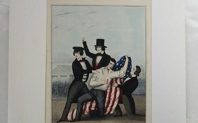 Lithograph - Death of George Shifler, Murdered