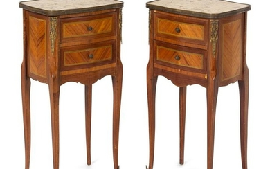 A Pair of Louis XV/XVI Transitional Style Gilt Bronze