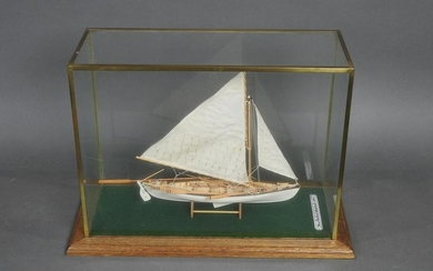 NEW BEDFORD WHALE BOAT INSIDE DISPLAY CASE