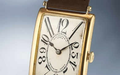 "Patek Philippe, An impressive oversized yellow gold wristwatch with ""exploding"" numerals"