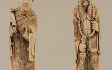 PR. OF CARVED ORIENTAL FIGURES, QING DYNASTY