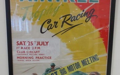 Two racing posters,