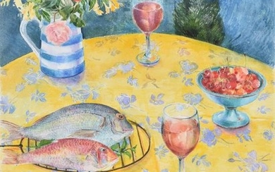 Val Archer (British b.1946), Table in Provence