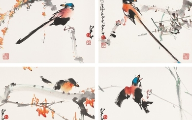 FLOWERS AND BIRDS, Zhao Shao'ang 1905-1998