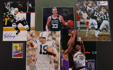 LOT OF MISC SPORTS AUTOGRAPHS