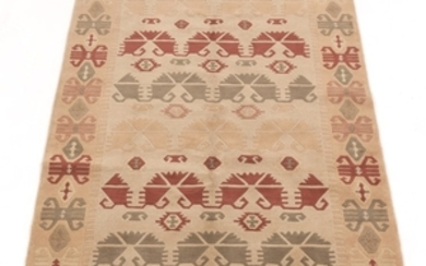 Hand-Knotted Arts and Crafts Design Tibetan Carpet