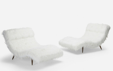 Adrian Pearsall, Wave chaise lounges, pair