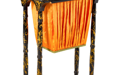 A Late Regency Chinoiserie Sewing Table