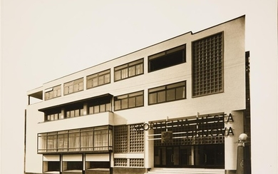 [CZECH] TWO PHOTOGRAPHIC STUDIES OF MODERNIST ARCHITECTURE Ca. 1930s,...