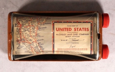 """A Most Unusual Road Map, """"Road Map of United States"""""""