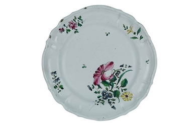 Soup Plate Soup Plate in white maiolica, with lobed converging...