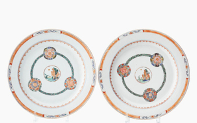 Two Chinese famille verte dishes