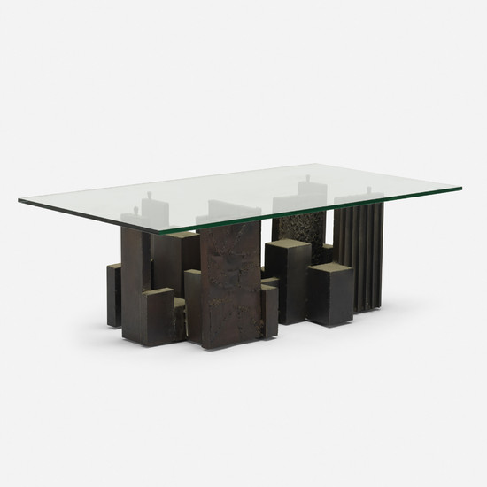 In the manner of Paul Evans, coffee table