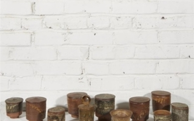 IAN GODFREY (BRITISH, 1942-1992) COLLECTION OF ELEVEN CUPS, LONDON,...