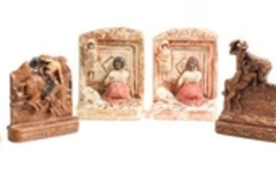 Three Sets of Contemporary Western Motif Book Ends