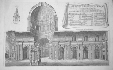 Rossi, Matteo: SECTION OF ST. PETER, Year 1682