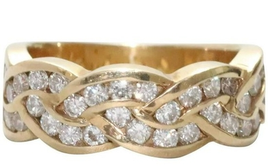 14 KT Gold With .96 CT Diamond Ring