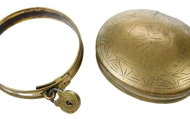 Engraved Brass Box with Brass Dog Collar