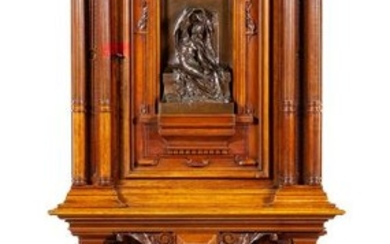 *A French Bronze Mounted Walnut Cabinet