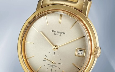 Patek Philippe, Ref. 3445 A very rare and imposing yellow gold wristwatch with date and bracelet