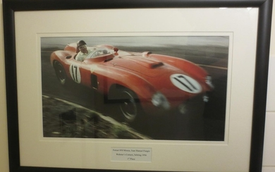Seven motorsport colour photographs and photoprints,