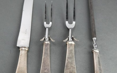 """Tiffany & Co. """"Queen Anne"""" Silver Carving Set, 4"""