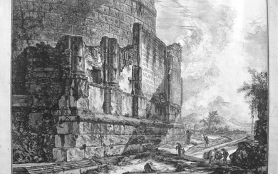 Piranesi, Giovanni: THE TOMB OF THE PLAUTII, NEAR THE PONTE LUCANO. Year 1761